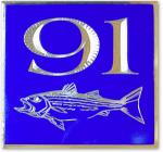 Square Striped Bass Address Sign