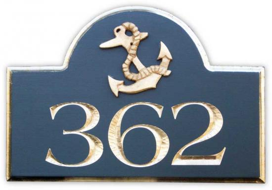 Cape Cod Custom Signs Anchor Address Sign