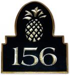 Pineapple Address Plaque Unique